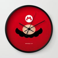 mario Wall Clocks featuring MARIO by Alberto Lamote de Grignon