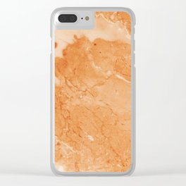Brown & Beige Marble Clear iPhone Case