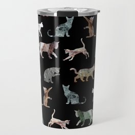Cats shaped Marble - Black Travel Mug