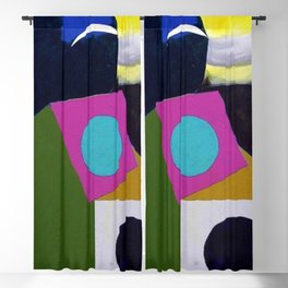 African American Masterpiece 'Joyful Abstraction' abstract landscape painting by E.J. Martin Blackout Curtain
