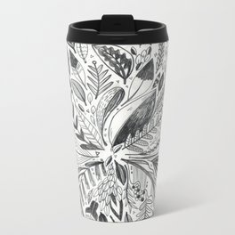Botanic Pattern Metal Travel Mug