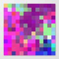 pixel art Canvas Prints featuring Pixel by FABIAN•SMITH