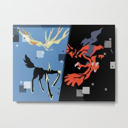 Xerneas and Yveltal special edit Metal Print