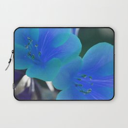 Blue Tint Rhododendron Flowers Laptop Sleeve