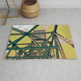 Main street bridge art print - Jacksonville, Florida - industrial steel beauty Rug
