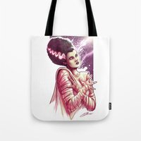 bride Tote Bags featuring BRIDE by Lorena Carvalho