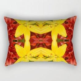 """A Gathering of Lilies"" Remix - 3 (4-1) [D4468~49] Rectangular Pillow"