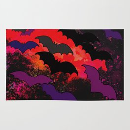 Bats In Flight Rug