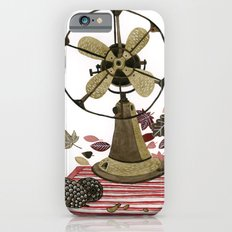 Still life with vintage fan and autumn leaves iPhone 6s Slim Case
