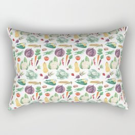 Watercolor vegetables Rectangular Pillow