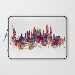 New York Skyline Silhouette Laptop Sleeve