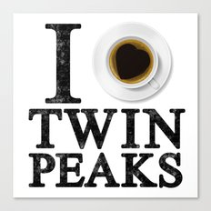 I Love Twin Peaks (Coffee) Canvas Print