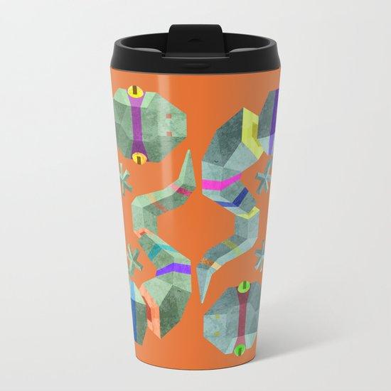 Polygonal gecko Metal Travel Mug