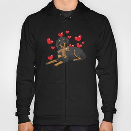 Austrian Black and Tan Hound with Hearts Hoody