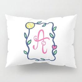 Tennis monogram A Pillow Sham