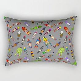 Butt of Superhero Villian - Dark Rectangular Pillow