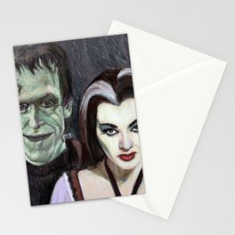 Lily and Herman Munster Stationery Cards