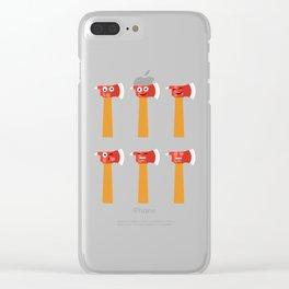 Axe Emojis, axe throwing, axe thrower, lumberjack, hacket  Clear iPhone Case