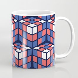 cascade - red/white/blue Coffee Mug