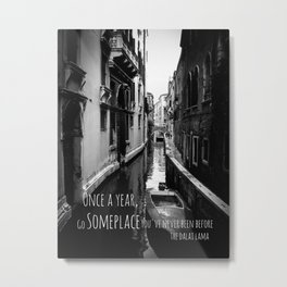 Venice - Travel Someplace New Metal Print
