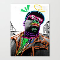 biggie Canvas Prints featuring Biggie by Kibwe Maono