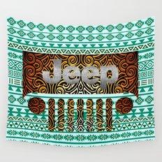 Aztec Jeep Pattern Wall Tapestry