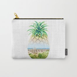 Pineapple beach double exposure Carry-All Pouch