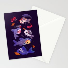 Spooky Cory cats Stationery Cards