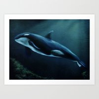 orca Art Prints featuring Orca by Wesley S Abney