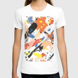 Abstract Floral Splash T-shirt