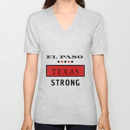 El Paso Red Texas Strong B.Luvid Unisex V-Neck