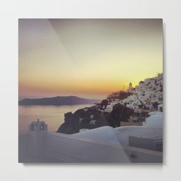 Sunset in Firostefani, Santorini Metal Print