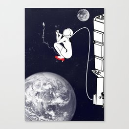Pee on the space! Canvas Print