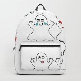 Ghost Emoji Shirt - Ghost Shirt - Ghost Halloween Shirt Backpack