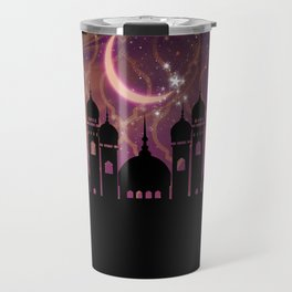 Purple & Gold Arabian Nights Half Moon Travel Mug