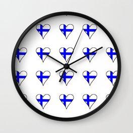 Flag of Finland 4 -finnish, Suomi, Sami,Finn,Helsinki,Tampere Wall Clock