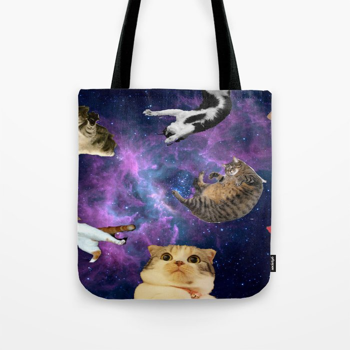 Cats in Space Tote Bag