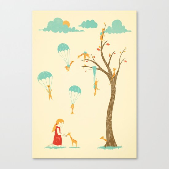 Invasion of the Tiny Giraffes Canvas Print