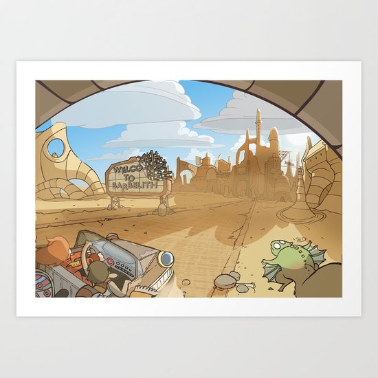 On the Road 3: City limits Art Print