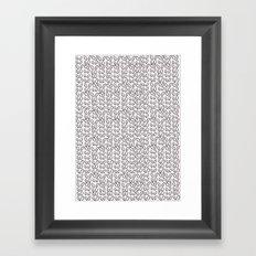Knitting Knit Pattern - Doodle - Black and White Ink Framed Art Print