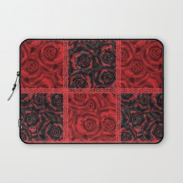 Patchwork . Roses are red. Laptop Sleeve