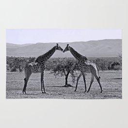 Giraffe talk Rug