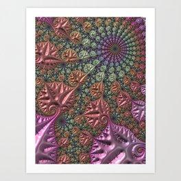 funky fractal Art Print