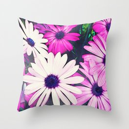 251 - Pink and White Flowers Throw Pillow