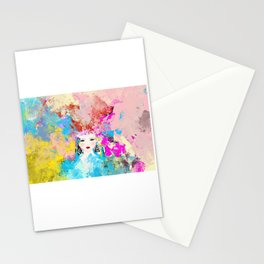 Abstract,colourful,bright,modern art decor  Stationery Cards