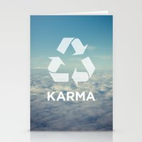 karma Stationery Cards featuring karma by kswanson