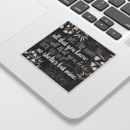 The Darkling Quote - Grisha - Nikoli Sticker