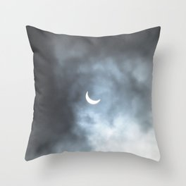 Cloudy Eclipse Throw Pillow