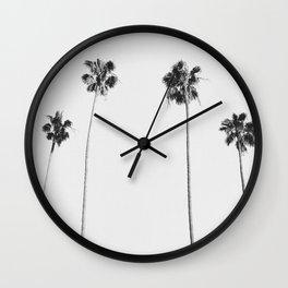 Black & White Palms Wall Clock