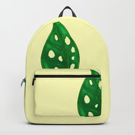 Monstera Adansoni leaves background, urban and house plants illustration and paint Backpack